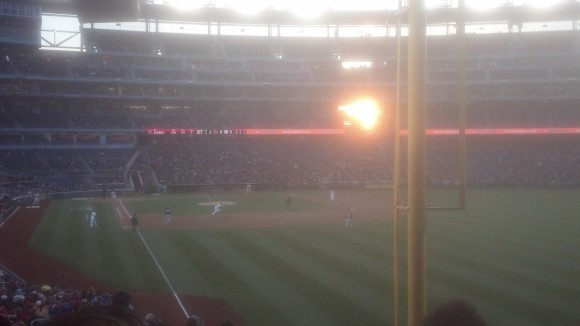 This sunset is decidedly not a metaphor for the start of baseball season, and is thus useless to me.