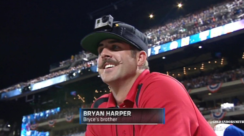 I think the Nats sent the wrong Harper to participate in the Derby.